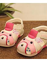 Дети Сандалии Удобная обувь Обувь для малышей Лето Дерматин Повседневные Коричневый Синий Розовый На плоской подошве