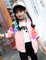 Girls' Floral Patchwork Jacket & Coat,Cotton Fall Winter Long Sleeve