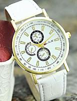 Жен. Модные часы Наручные часы Кварцевый Кожа Группа Повседневная Черный Белый Коричневый