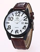 Муж. Жен. Нарядные часы Модные часы Наручные часы Китайский Кварцевый PU Группа Повседневная Черный Коричневый