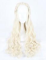 жен. Парики из искусственных волос Без шапочки-основы Длиный Волнистые Бежевый блондин Парики для косплей Карнавальные парики