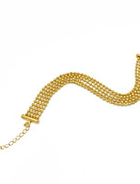 Men's Women's Chain Bracelet Multi Layer Luxury Gold Plated Round Line Jewelry For Party Gift