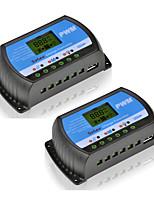 2pcs rtd-10a панели солнечных батарей батареи регулятор напряжения 24v 12v pwm lcd дисплей с usb 5v 0.8a для системы pv y-solar