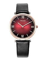 KEZZI Mujer Reloj de Moda Cuarzo Japonés PU Banda Casual Negro Blanco Rojo Gris