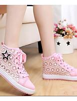 Для женщин Обувь Тюль Весна Лето Удобная обувь Кеды С Назначение Повседневные Белый Черный Розовый