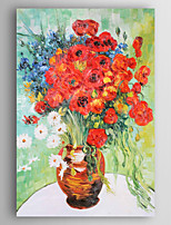 Hand-Painted Floral/Botanical Vertical,New Arrival One Panel Canvas Oil Painting For Home Decoration
