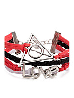 Men's Women's Wrap Bracelet Bracelet Jewelry Geometric Punk Rock Multi Layer Leather Alloy Heart Jewelry Jewelry For Stage Street