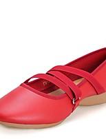 Women's Modern Leather Sneaker Outdoor Low Heel Red Black White Under 1