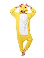 Кигуруми Пижамы Unicorn трико/Комбинезон-пижама Фестиваль / праздник Нижнее и ночное белье животных Хэллоуин Желтый Животное Кигуруми Для