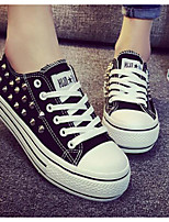 Women's Sneakers Comfort Spring Canvas Casual Black Flat