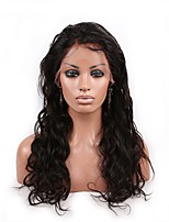 Women Human Hair Lace Wig Brazilian Human Hair Lace Front 130% Density Body Wave Wig Black Medium Brown Dark Brown Black Dark Black Long