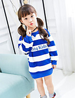 Girls' Stripe Blouse,Polyester Spring Fall Long Sleeve