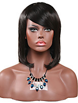 Women Synthetic Wig Capless Short Straight Black For Black Women Lolita Wig Party Wig Halloween Wig Carnival Wig Cosplay Wig Natural Wigs