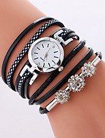 Women's Fashion Watch Bracelet Watch Quartz PU Band Cool Casual Black White Pink