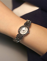 Women's Fashion Watch Quartz Alloy Band Sparkle Silver