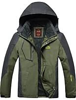 Men's Cycling Jacket Windproof Rain-Proof Waterproof Zipper Wearable Breathability Waterproof Full Length Visible Zipper Winter Jacket