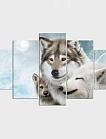 Отпечатки на холсте 5 панелей Холст Горизонтальная С картинкой Декор стены For Украшение дома