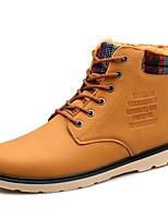 Для мужчин Туфли на шнуровке Зимние сапоги Модная обувь Ботильоны Армейские ботинки Флисовая подкладка Осень Зима Дерматин Повседневные