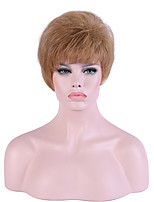 Women Short Flaxen Natural Wave Natural Hairline Pixie Cut Synthetic Hair Capless Party Wig Halloween Wig Cosplay Wigs Natural Wig