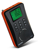 DE26 Radio portatil Reproductor MP3 Tarjeta TFWorld ReceiverNegro