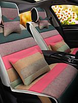 A Rainbow Cartoon Car Cushion Linen Cushion Seat Cover Seat Four Seasons General All Around Whole Linen -4#