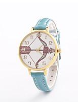 Жен. Модные часы Наручные часы Кварцевый Кожа Группа Повседневная Черный Белый Синий Серебристый металл Красный Золотистый Розовый Роуз