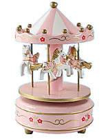 Music Box Toys Horse Carousel Furnishing Articles Not Specified 1 Pieces
