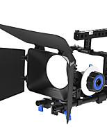 andoer video profesional de la jaula sistema de la plataforma que hace el sistema con la barra de 15m m sigue la caja mate del ff del foco