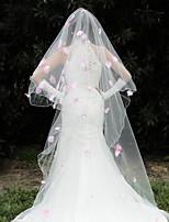 Wedding Veil One-tier Elbow Veils Chapel Veils Lace Applique Edge Tulle