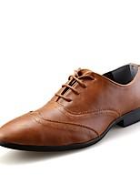 Для мужчин обувь Искусственное волокно Весна Осень Удобная обувь Формальная обувь Туфли на шнуровке Шнуровка Назначение Для вечеринки /