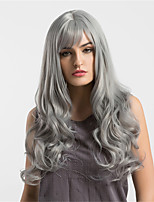 Women Synthetic Wig Capless Long Very Long Natural Wave Grey Middle Part Natural Wigs Costume Wigss