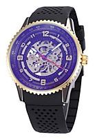 Herrn Damen Totenkopfuhr Armbanduhr Mechanische Uhr Japanisch Automatikaufzug Kalender Chronograph Wasserdicht Transparentes Ziffernblatt