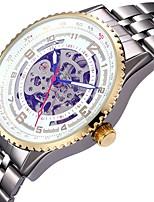 Муж. Жен. Спортивные часы Часы со скелетом Механические часы Японский С автоподзаводом Календарь Секундомер Защита от влаги С гравировкой