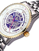 Hombre Mujer Reloj Deportivo Reloj Esqueleto El reloj mecánico Japonés Cuerda Automática Calendario Cronógrafo Resistente al Agua