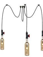 3 cabeças 9w levou luz quente país americano retro lustre industrial sala de estar restaurante pingente luzes cafés lojas luz fixture