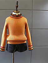 Girls' Solid Blouse,Cashmere Cotton Fall Winter Long Sleeve