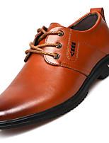 Masculino Oxfords Sapatos formais Primavera Verão Outono Inverno Pele Real Pele Casual Poa Rasteiro Preto Amarelo Marron Rasteiro