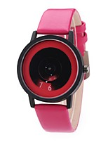 Men's Women's Dress Watch Fashion Watch Wrist watch Unique Creative Watch Chinese Quartz PU Band Vintage Charm Elegant Casual Black White