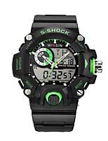 Homens Relógio Esportivo Relógio de Pulso Relógio Casual Relogio digital Suíço Digital LED Calendário Cronógrafo Impermeável Dois Fusos