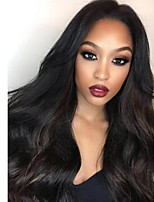 Women Human Hair Lace Wig Glueless Lace Front 180% 150% 130% Density With Baby Hair Wavy Wigs Brazilian Hair Medium Brown Dark Brown