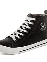 Women's Shoes Canvas Spring Fall Comfort Sneakers For Casual Army Green Gray Black