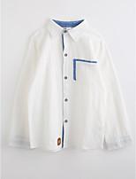Girls' Solid Shirt,Cotton Fall Long Sleeve
