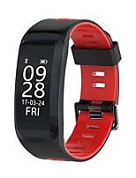 yy f4 мужская женщина умный браслет кровь кислород / кровяное давление / сердечный ритм / калория / высота / давление / погода для android