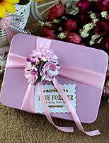 6 Favor Holder-Cuboid Metal Favor Boxes Candy Jars and Bottles Gift Boxes