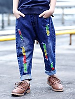 Boys' Solid Jeans-Cotton Spring Fall