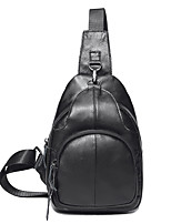 муж. Слинг сумки на ремне Полиуретан Все сезоны Для шоппинга Повседневные Черный Кофейный