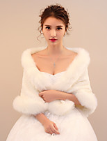 Women's Wrap Shawls Faux Fur Wedding Party/ Evening Printing