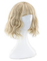 Women Synthetic Wig Capless Short Curly Beige Blonde Bob Haircut Lolita Wig Natural Wigs Costume Wigss