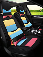 Flax Mosaic Rainbow Stripes Car Seat Cushion Seat Cover Seat Four Seasons General Surrounded By A Five Seat-Black