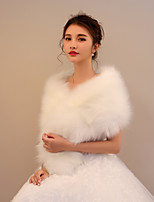 Women's Wrap Capelets Faux Fur Wedding Party/ Evening Tassel